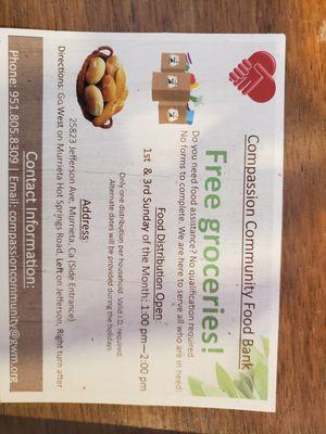 Free Groceries for Sale in Murrieta, CA