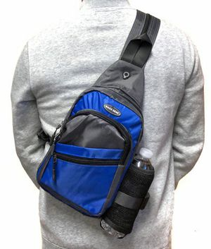 Brand NEW! Blue Crossbody/Side Bag/Sling/Pouch Straps Converts to Backpack Style For Everyday Use/Work/Outdoors/Hiking/Biking/Fishing/Sports/Gym for Sale in Carson, CA