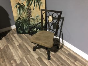 Rolling Metal Office Desk Chair Excellent Condition 38x21 *CHECK OUT MY OTHER ITEMS* *DELIVERY AVAILABLE FOR A FEE* for Sale in Lake Worth, FL