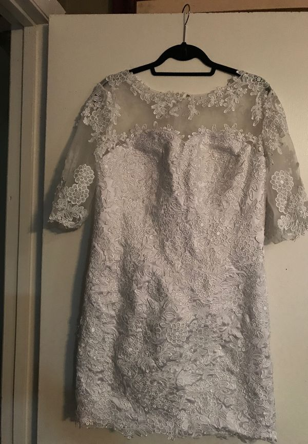 White lace/shell dress