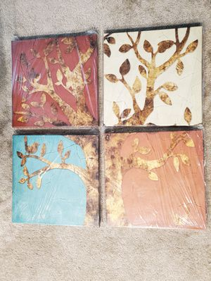 4pc canvas photo set for Sale in Menifee, CA
