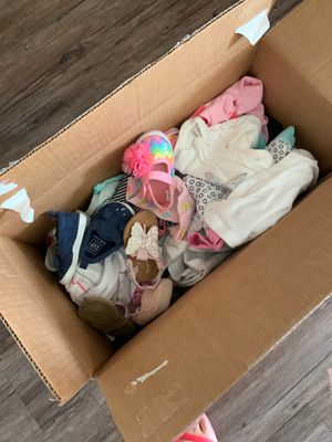 FREE BABY GIRL CLOTHES 0-3 months plus shoes for Sale in Riverside, CA