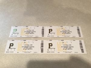 4 Cubs Pirates tickets in Pittsburgh on Memorial Day 5/28 for Sale in Colona, IL