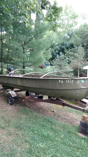 16Ft BOAT, MOTOR, and TRAILER for Sale in Greensburg, PA