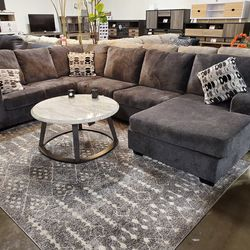 NEW, LARGE RAF Corner Chaise, SMOKE COLOR SECTIONAL. for Sale in Santa Ana,  CA