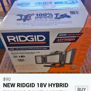 RIDGID 18 V HIBRYD FOLDING PANEL LIGHT for Sale in Lisle, IL