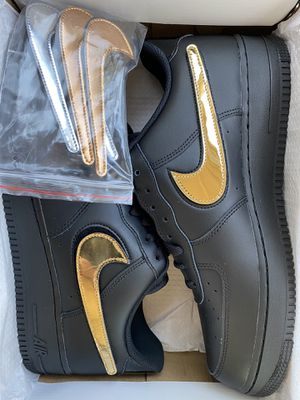 Nike Air Force 1 Low Black 'Metallic Swoosh' Size 11.5 for Sale in Montclair, CA