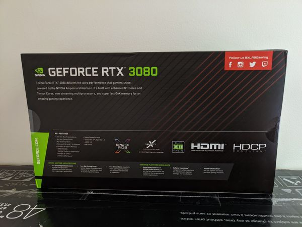 PNY XLR8 GAMING RTX 3080 BRAND NEW IN HAND