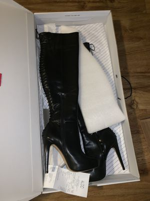 Tall black leather boots for Sale in Marietta, GA