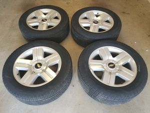 20 inch Chevy Silverado wheels and tires for Sale in Fort Smith, AR