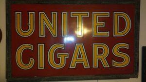 Antique United Cigar pocelain sign for Sale in Scottsdale, AZ