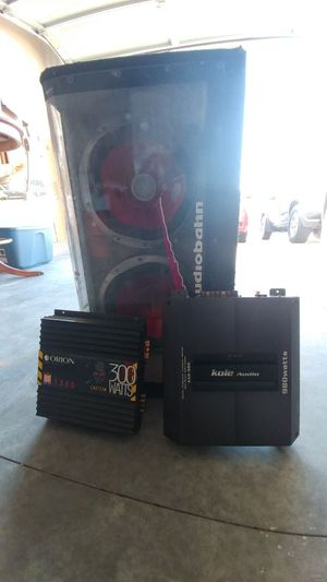 Sony subwoofer and 2 amplifiers for Sale in Greensboro, NC