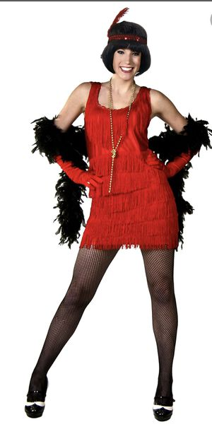 Halloween costume size M fringe flapper for Sale in Anaheim, CA