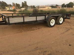 16Ft Dual Axle Utility Trailer for Sale in Phelan, CA