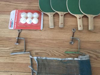 Ping Pong table net,6 paddles,new package of 6 balls for Sale in Rochester,  NY