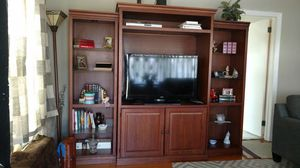 3 Piece Wall Unit Wood Ashley's Furniture Entertainment Center for Sale in High Point, NC