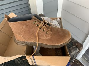 Brand new never worn steel toe work boots for Sale in Raleigh, NC