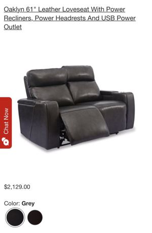 Brand New Super High Vibe High Quality Grey Leather Reclining Couch/Loveseat and Chair for Sale in San Diego, CA