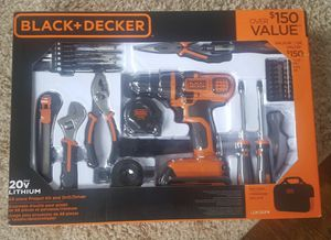 BLACK+DECKER 20V MAX Drill & Home Tool Kit, 68 Piece for Sale in Syracuse, NY