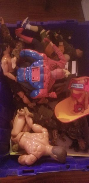 Vintage toy combat action figure men. Some super heros for Sale in Philadelphia, PA