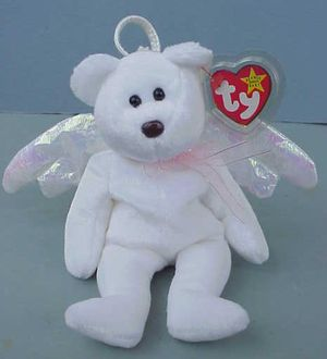 RARE Ty Beanie Baby HALO the Bear 1998 Black Eyes Brown Nose Error for Sale in Warwick, RI