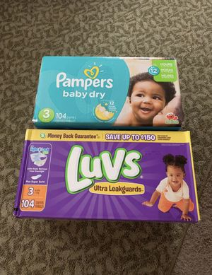 Pampers live size 3 baby diapers for Sale in Marysville, WA