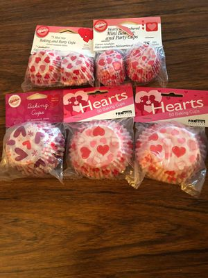 5 Valentine baking cup liners for Sale in Redmond, WA