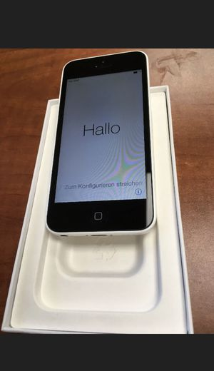 Apple iPhone 5c white unlocked new used but good condition for Sale in Gladstone, VA
