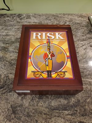 Vintage edition wooden box Risk board game for Sale in New Square, NY