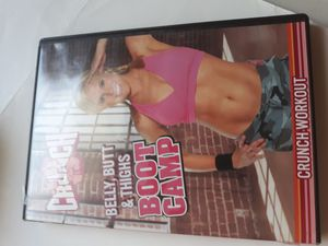 Crunch workout belly butt & thighs boot camp dvd for Sale in Lancaster, OH