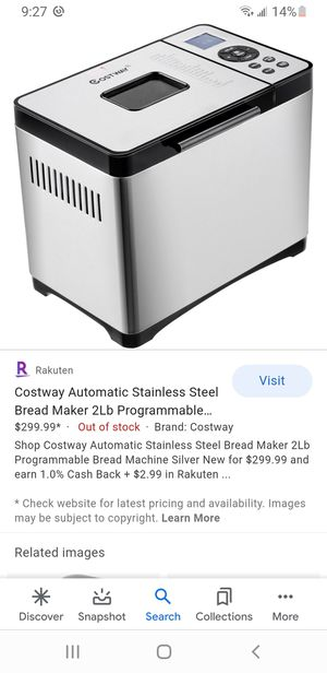Stainless steel automatic bread maker for Sale in Gardena, CA