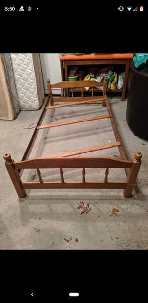 Vintage Wood Twin Bed Frame for Sale in Stroudsburg, PA