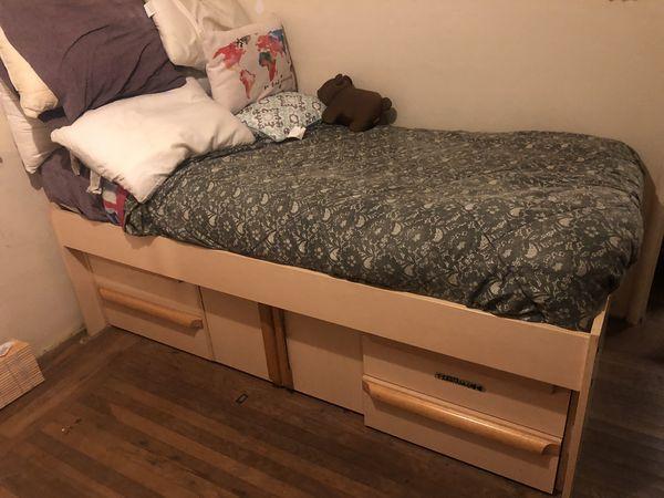 Twin Bed Frame + Mattress