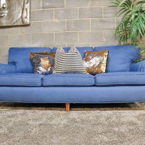 ***Blue MCM Sofa (Free Delivery) for Sale in Atlanta, GA