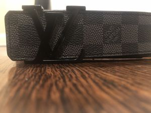 LOUIS VUITTON BELT INITIALS DAMIER GRAPHITE BLACK/GREY for Sale in Columbus, OH
