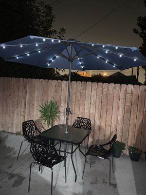 """#813- set of 6 Pcs patio included umbrella led 10"""" for Sale in Los Angeles, CA"""