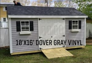 New 10' x 16' Dover Gray Vinyl A Frame Shed for Sale in Wakefield, MA