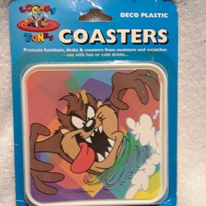 Vintage Looney tunes taz coasters set for Sale in Fort Lauderdale, FL
