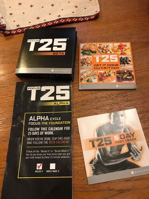 T25 Beachbody Shawn T Workout DVD Set for Sale in Decatur, GA