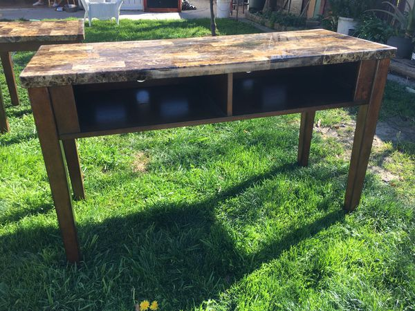 2 end tables a coffee table and tv stand