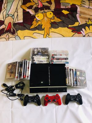 PS3~3 Controllers~ 19 Games/manuals ~ Cords ~ All Tested All Working for Sale in Cockeysville, MD