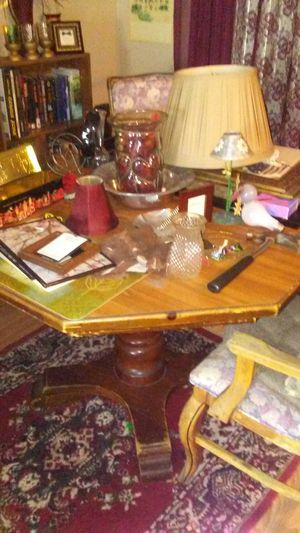 Octagon wooden kitchen table call {contact info removed} for Sale in Beatrice, NE