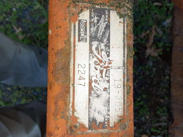 This is a Ford Model scraper blade for 3 point hitch