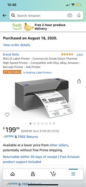 Shipping label printer for Sale in Los Angeles, CA