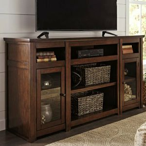 $39 DOWN Harpan Reddish Brown XL TV Stand | W797-68 for Sale in Silver Spring, MD