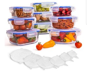 24-Piece Glass Food Storage Containers for Sale in Round Rock, TX