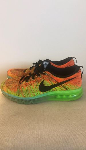 NIKE, men's athletic shoes, flashy colors, hardly used, size:10 for Sale in Sunnyvale, CA