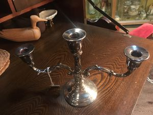 Silver candelabra, 3 arm candle stick, for Sale in Duncanville, TX