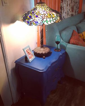 Blue end table for Sale in Los Angeles, CA