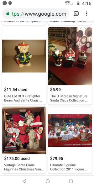 Collectable (($7 each))Christmas santa clause statues an more collectable classic for Sale in Sacramento, CA